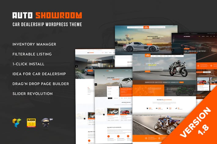 Thumbnail for Auto Showroom - Car Dealership WordPress Theme
