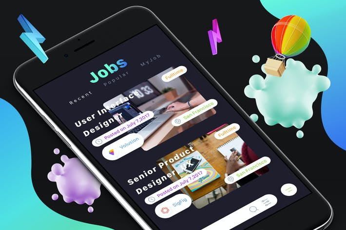 Thumbnail for Jobs 1 Mobile Ui