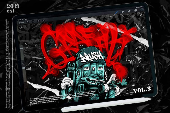 Thumbnail for GRAFFITI BRUSH for procreate