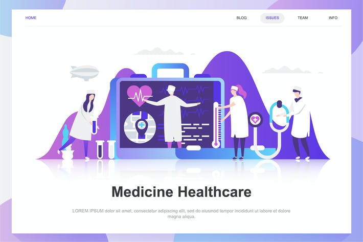 Thumbnail for Medicine and Healthcare Flat Concept
