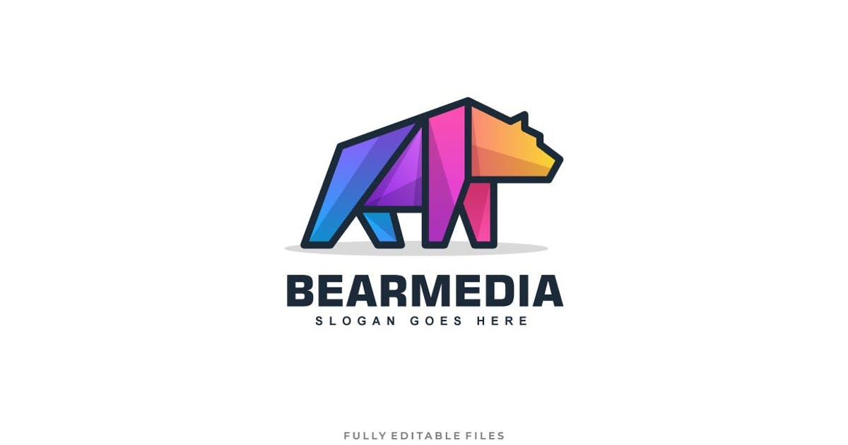 Download Bear Color Line Logo Vector Template by ivan_artnivora