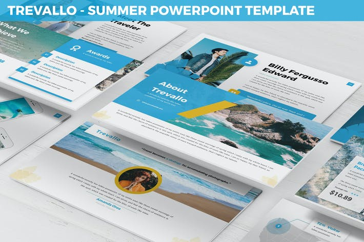 Thumbnail for Trevallo - Summer Powerpoint Template