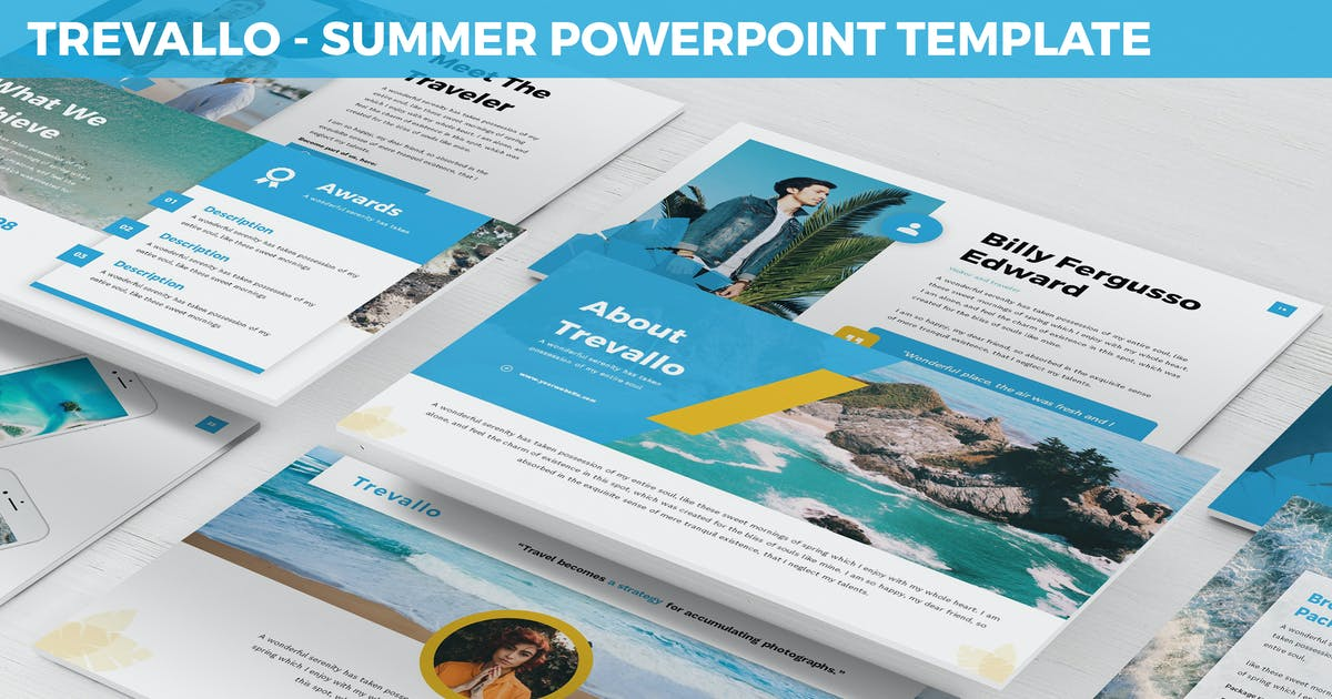 Download Trevallo - Summer Powerpoint Template by SlideFactory