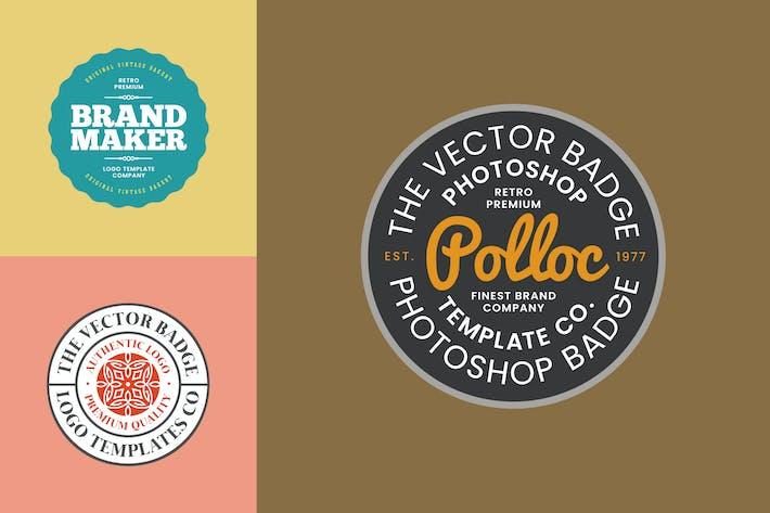 Thumbnail for Logo Badge Templates V.02