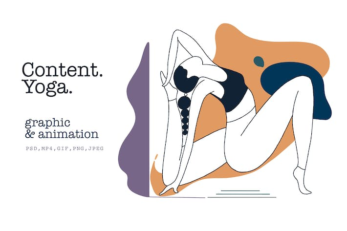 Thumbnail for Contenu. Yoga. Graphique & animation.