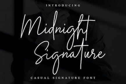 Midnight Signature Font
