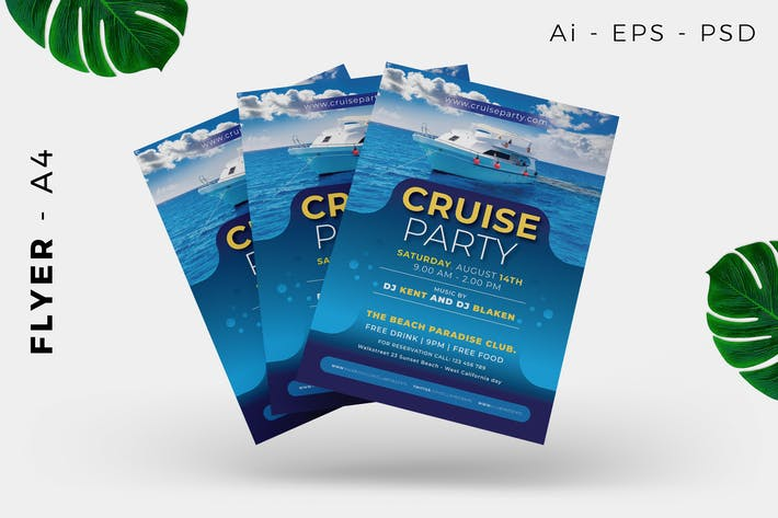 Thumbnail for Cruise Event / Holiday Flyer Design
