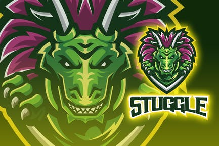 Monster Lizard Esport Logo