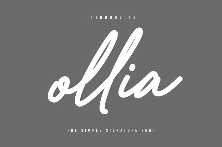 Thumbnail for Ollia - Simple Signature Font
