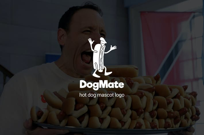 Thumbnail for Dogmate : Hot Dog Mascot Logo