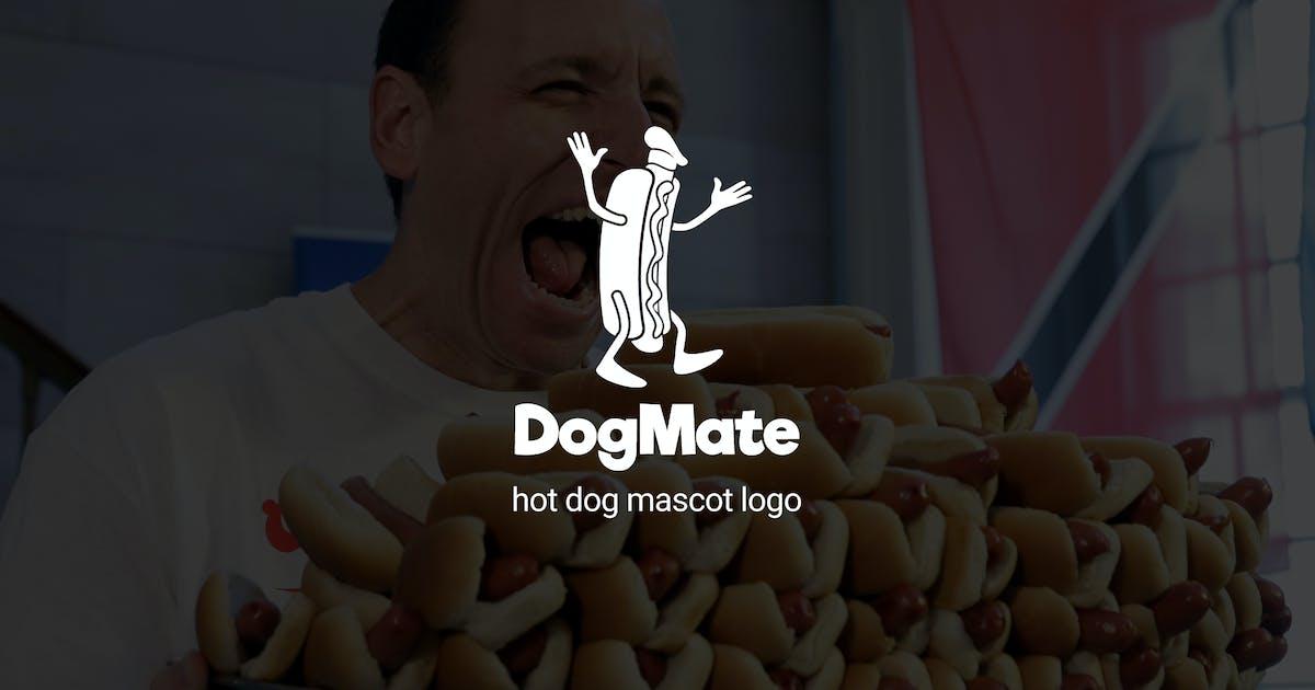 Download Dogmate : Hot Dog Mascot Logo by punkl