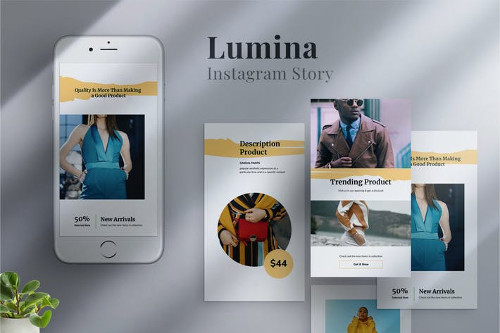 Cover Image For Lumina - Instagram stories Template 02