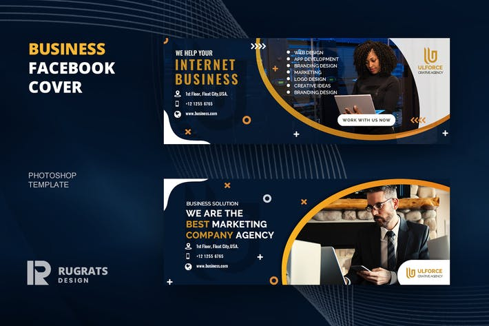 Cover Image For Business R8 Facebook Cover Template