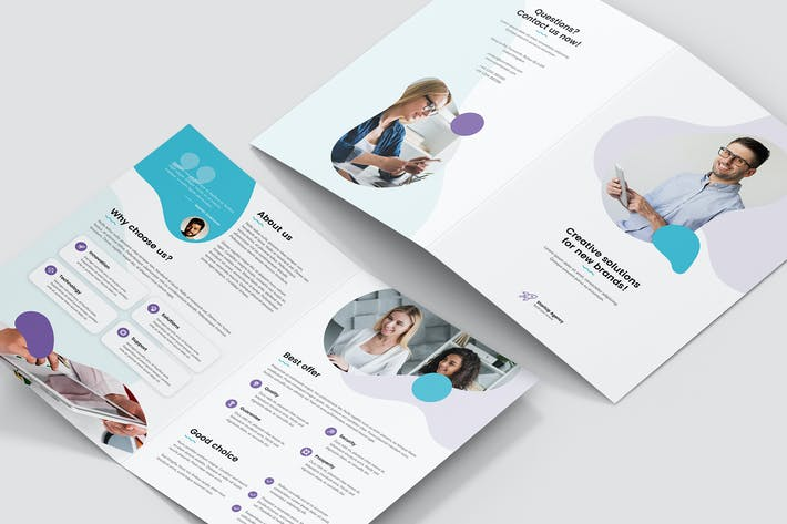 Cover Image For Brochure – StartUp Agency Bi-Fold