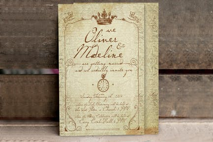 1900 Paris Wedding Invitation