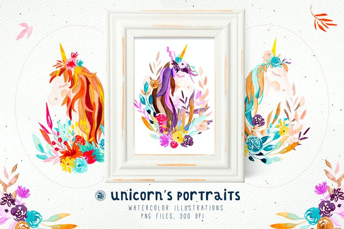 Cover Image For Unicorn's Portraits