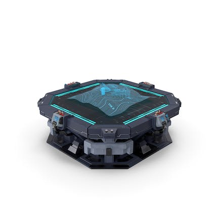 Sci-Fi Table with Hologram