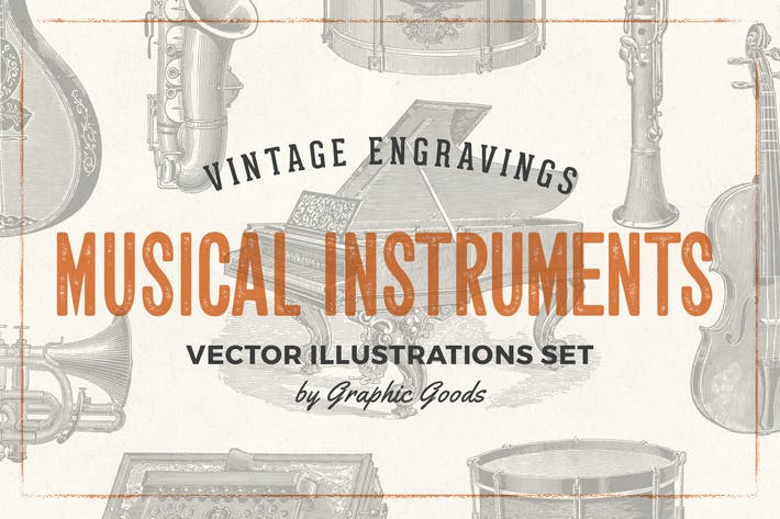 Thumbnail for Musical Instruments - Engraving Illustration Set
