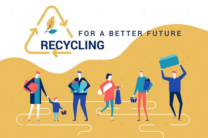Thumbnail for Recycling for a better future - flat web banner