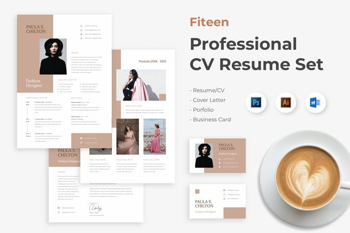Thumbnail for Fashion Designer CV Resume