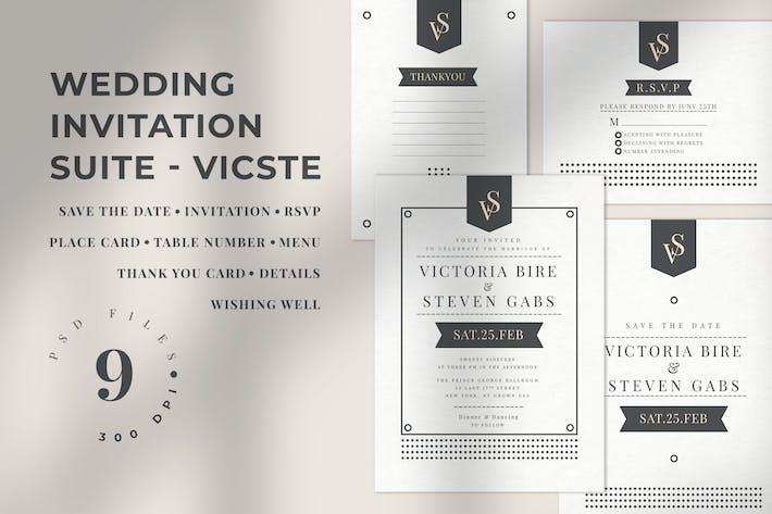 Thumbnail for Wedding Invitation Suite - VICSTE
