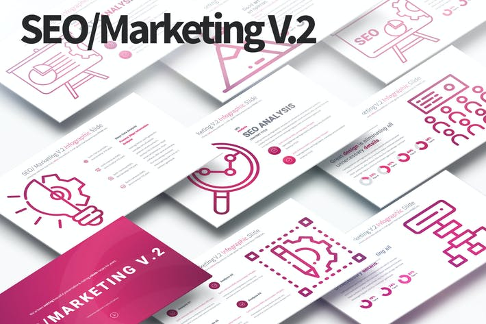 Thumbnail for SEO/Marketing V.2 - PowerPoint Infographics Slides