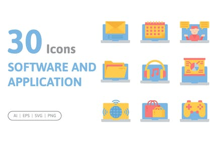 30 Software and Application Icons