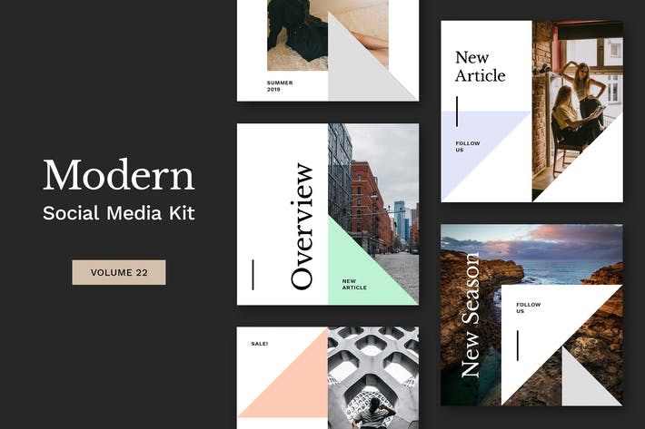 Thumbnail for Modern Social Media Kit (Vol. 22)