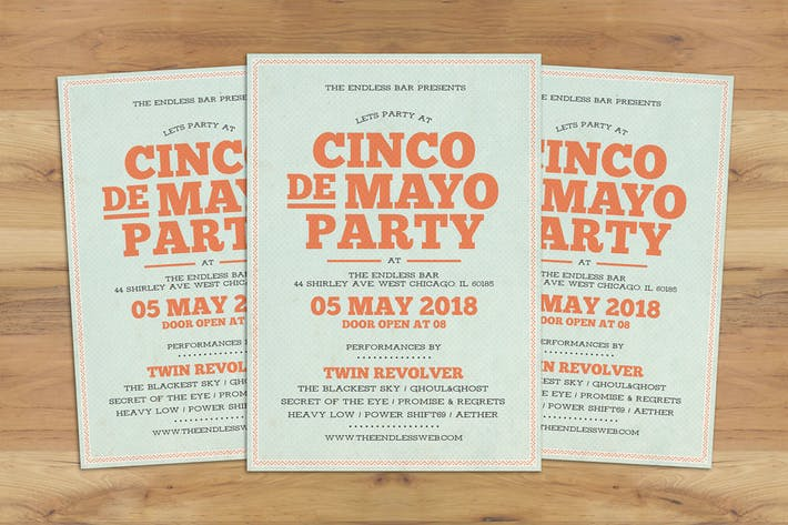 Thumbnail for Cinco De Mayo Typography Flyer