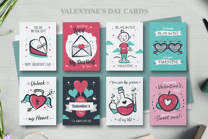 Cover Image For Valentines day card collection