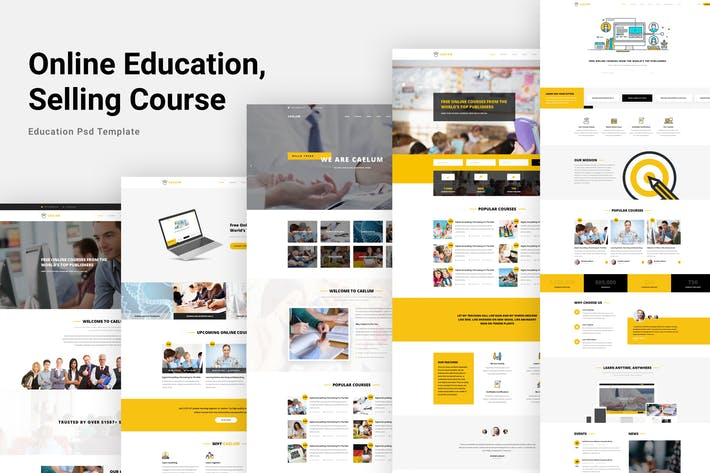 Thumbnail for Caelum - Online Education, Course PSD Template
