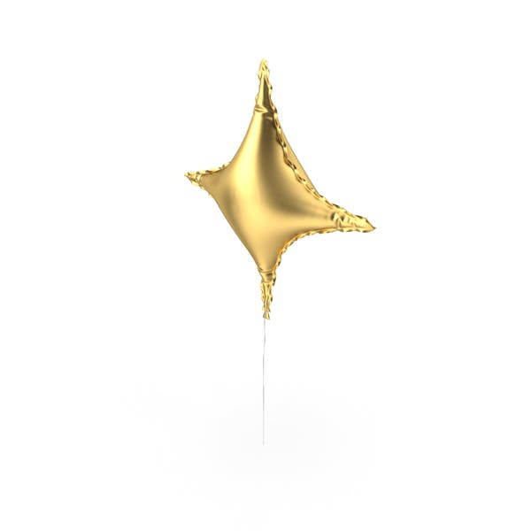 Thumbnail for Gold Star Shape Foil Balloon