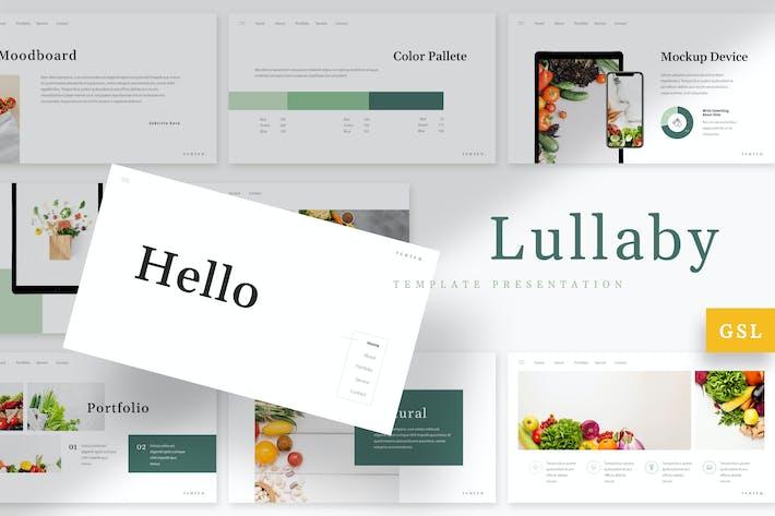 Thumbnail for Lullaby - Vegetables Google Slides Template