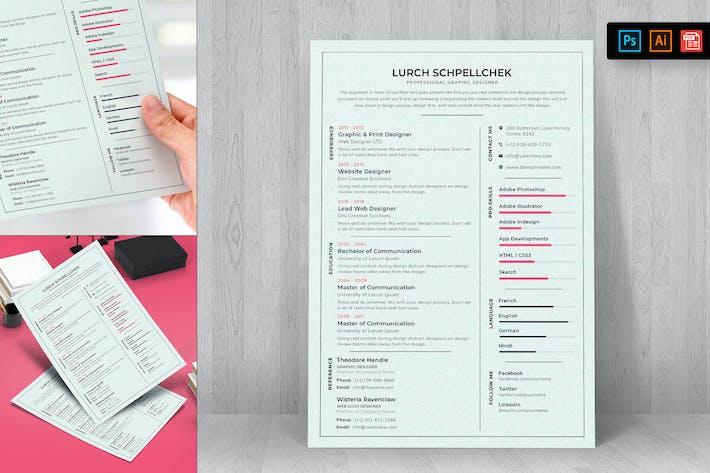Thumbnail for Resume CV Template-70