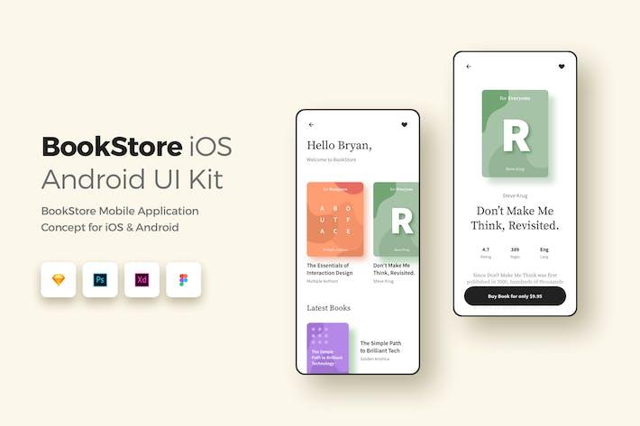 Thumbnail for Книжный магазин iOS и Android UI UX Kit