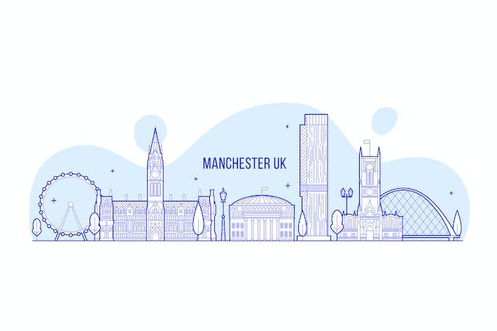 Thumbnail for Manchester skyline, England, UK