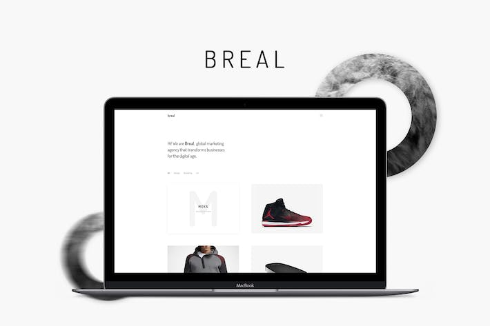 Thumbnail for Breal - Minimal Website PSD Template