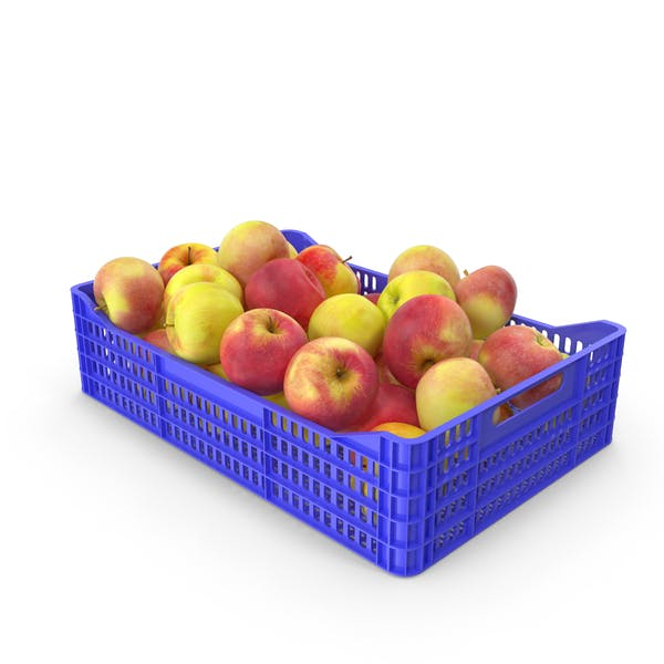 Apples Plastic Crate