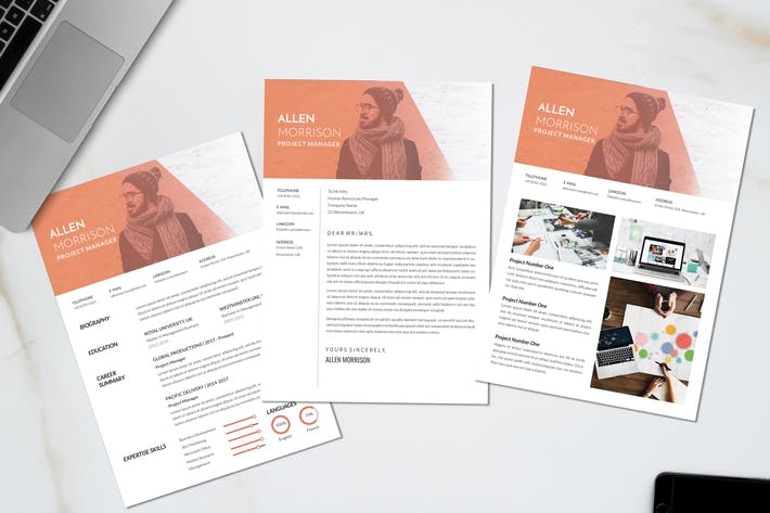 Thumbnail for Project Manager Creative CV Resume Vol. 63