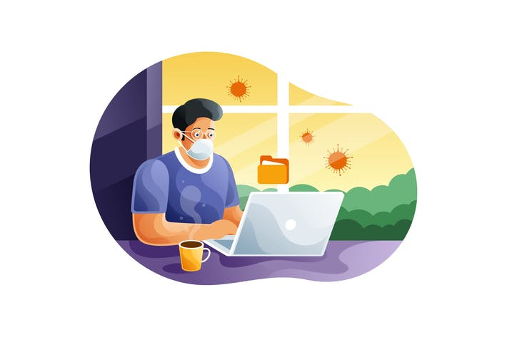 Thumbnail for Working at home preventing from coronavirus