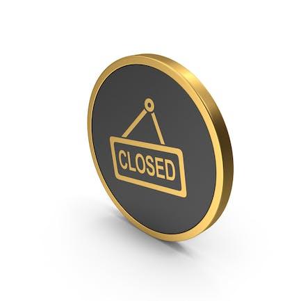Gold-Symbol geschlossen
