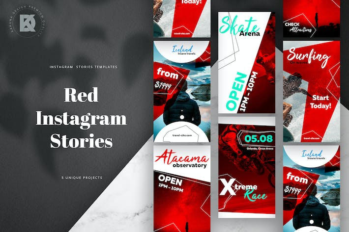 Thumbnail for Instagram Stories Red Pack