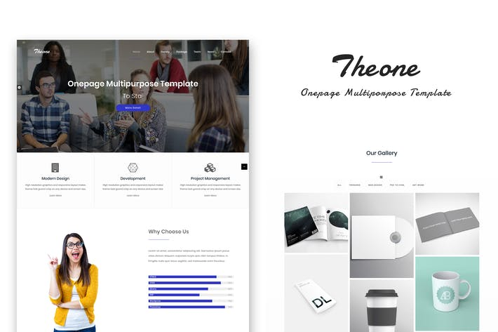 Thumbnail for Theone - Onepage Multiporpose Template