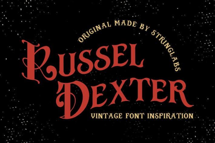 Thumbnail for Russel Dexter - Retro Vintage Font