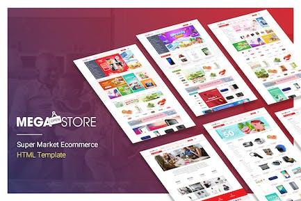 MegaStore | Super Market Ecommerce HTML Template