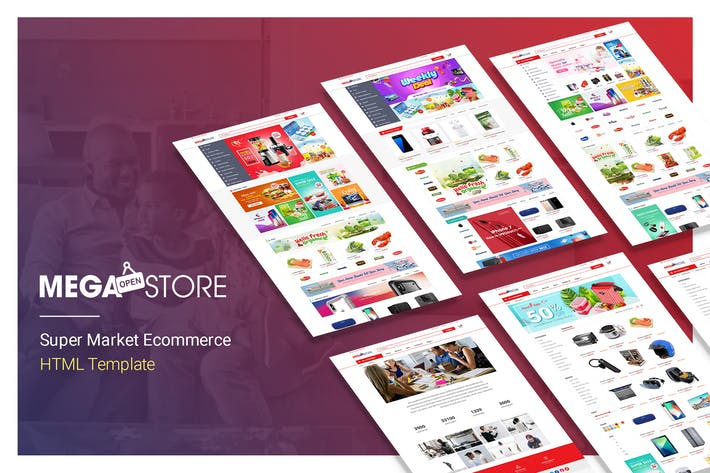 Thumbnail for MegaStore | Super Market Ecommerce HTML Template