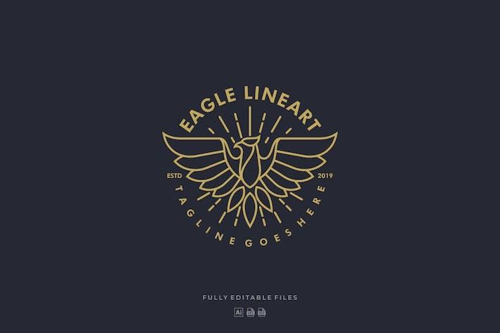 Thumbnail for Eagle Line Art Badge Logo