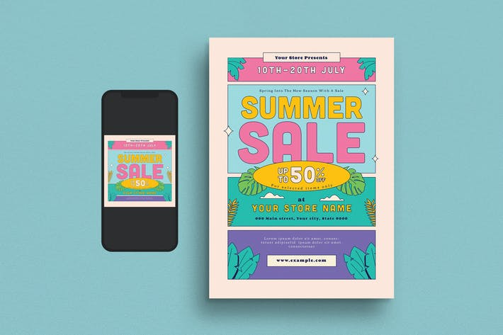Thumbnail for Summer Sale Flyer Set