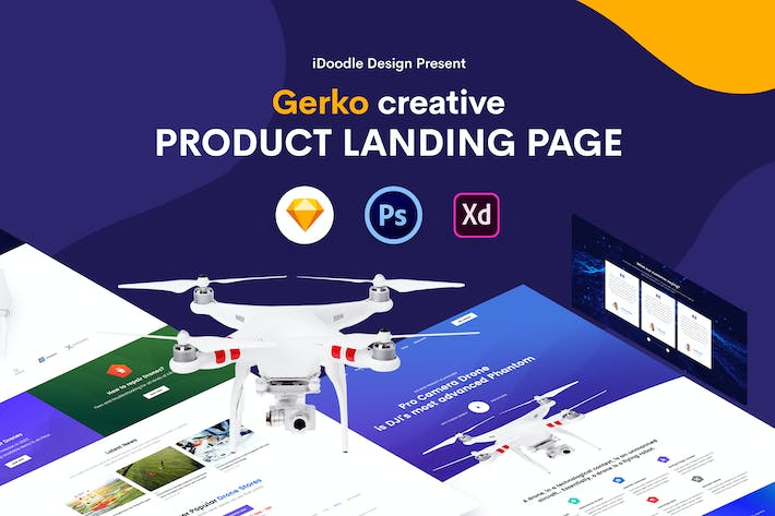 Thumbnail for Gerko - Product Landing Page Template