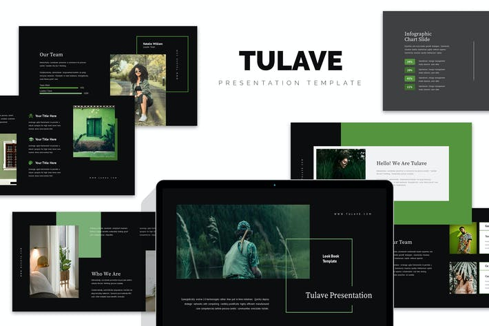 Thumbnail for Tulave : Green Gradient Color Tone Google Slides